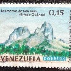 Sellos: 1964. VENEZUELA. 704. MONTES LOS MORROS DE SAN JUAN EN GUÁRICO. USADO.. Lote 198101895