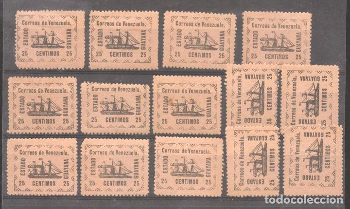 VENEZUELA 1903 SHIPS ESTADO GUAYANA 25C X 14 MI.21 MNH/MLH M.378 (Sellos - Extranjero - América - Venezuela)