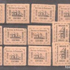 Sellos: VENEZUELA 1903 SHIPS ESTADO GUAYANA 25C X 14 MI.21 MNH/MLH M.378. Lote 198280628