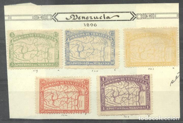 VENEZUELA 1896 MIRANDA, MH AG.113 (Sellos - Extranjero - América - Venezuela)