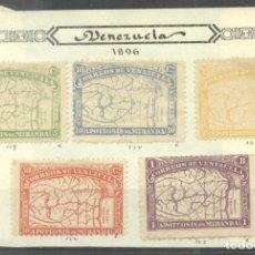 Sellos: VENEZUELA 1896 MIRANDA, MH AG.113. Lote 198280672
