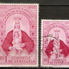 Sellos: VENEZUELA. 1952. YT 420,421. Lote 204167400