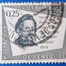 Sellos: SELLO DE VENEZUELA. YVERT A 709 USADA. CENTENARIO MUERTE DEL ALMIRANTE Y GEOGRAFO AGUSTIN CODAZZI. Lote 204775376