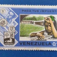 Sellos: SELLO DE VENEZUELA. MICHEL 1968. YVERT 908. HACIENDA. CAMPAÑA ''PAGUE SUS IMPUESTOS''. (1974).. Lote 206896315