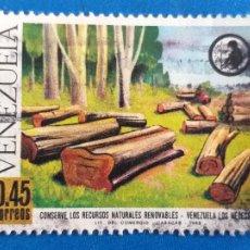 Sellos: SELLO DE VENEZUELA. AÑO 1968. CONSERVE LOS RECURSOS NATURALES. YVERT 769. Lote 206896568