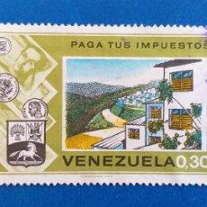 Sellos: SELLO DE VENEZUELA. MINISTERIO DE HACIENDA. CAMPAÑA ''PAGUE SUS IMPUESTOS''. (1974).. Lote 206897143