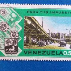 Sellos: SELLO DE VENEZUELA. YVERT 916. MINISTERIO DE HACIENDA. CAMPAÑA ''PAGUE SUS IMPUESTOS''. (1974).. Lote 206897582