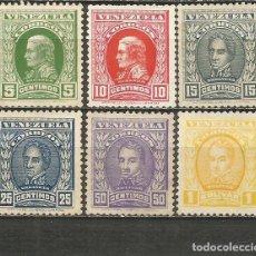 Sellos: VENEZUELA YVERT NUM. 125/130 SERIE COMPLETA NUEVA SIN GOMA. Lote 207938001