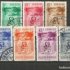 Sellos: VENEZUELA YVERT NUM. 406/412 SERIE COMPLETA USADA. Lote 207943671
