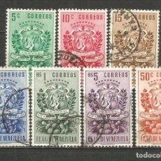 Sellos: VENEZUELA YVERT NUM. 326/332 SERIE COMPLETA USADA. Lote 207946765