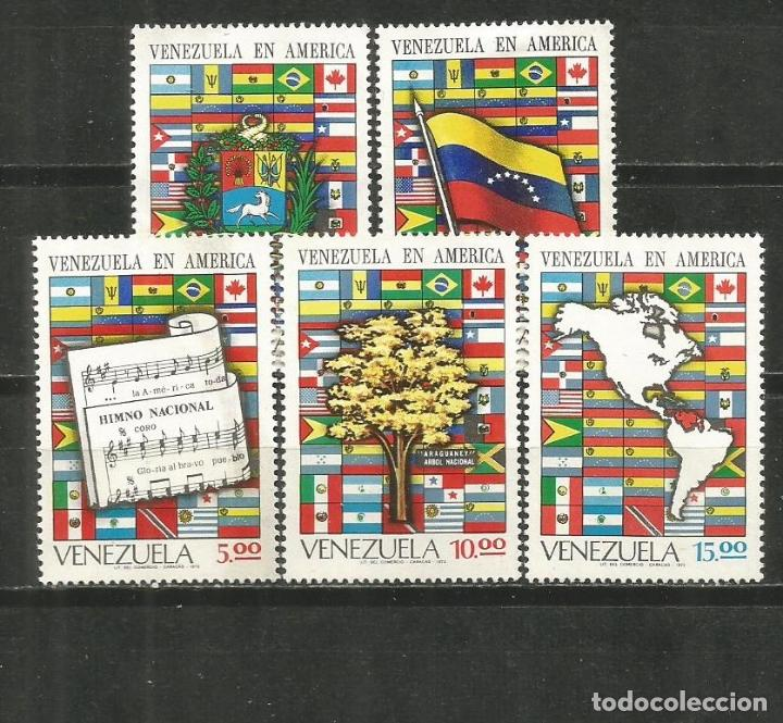 VENEZUELA YVER NUM. 841/845 SERIE COMPLETA NUEVA SIN GOMA (Sellos - Extranjero - América - Venezuela)