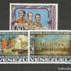Francobolli: VENEZUELA YVER NUM. 881/883 * SERIE COMPLETA CON FIJASELLOS. Lote 207982277