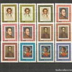 Sellos: VENEZUELA CORREO AEREO YVERT NUM. 929/940 SERIE COMPLETA NUEVA SIN GOMA. Lote 208407286
