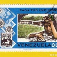 Sellos: VENEZUELA. 1974. PAGA TUS IMPUESTOS ... PARA EDUCACION. Lote 210944490