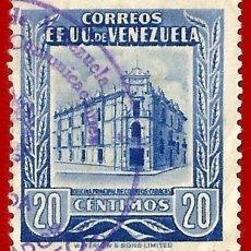 Sellos: VENEZUELA. 1953. OFICINA PRINCIPAL CORREOS. CARACAS. Lote 211406889