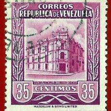 Sellos: VENEZUELA. 1955. OFICINA PRINCIPAL DE CORREOS. CARACAS. Lote 211410335