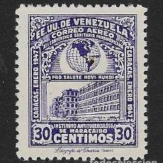 Sellos: VENEZUELA - AÉREO. YVERT Nº 225 NUEVO Y DEFECTUOSO. Lote 211670661