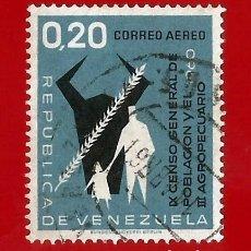 Sellos: VENEZUELA. 1961. CENSO NACIONAL POBLACIONAL Y AGROPECUARIO. Lote 211684360
