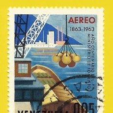 Sellos: VENEZUELA. 1964. EXPOSICION NACIONAL DE INDUSTRIAS. BARCO. Lote 211685725