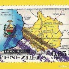 Sellos: VENEZUELA. 1971. MAPA DEL ESTADO DE TRUJILLO. Lote 211689388