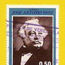 Sellos: VENEZUELA. 1973. GRAL. JOSE ANTONIO PAEZ. Lote 211691121