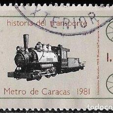Sellos: VENEZUELA 1981. TRANSPORTE. METRO DE CARACAS. LOCOMOTORA. Lote 213259111