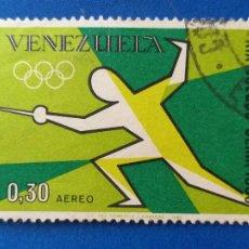 Sellos: USADO. AÑO 1968. VENEZUELA. DEPORTE. JUEGOS OLÍMPICOS DE MÉXICO. ESGRIMA. YVERT A 953. Lote 214867536