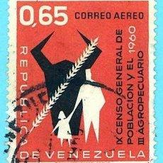 Sellos: VENEZUELA. 1961. CENSOS GENERAL Y AGROPECUARIO. Lote 222802740