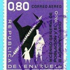 Sellos: VENEZUELA. 1961. CENSOS GENERAL Y AGROPECUARIO. Lote 222802823