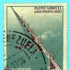 Sellos: VENEZUELA. 1963. PUENTE SOBRE LAGO MARACAIBO. Lote 222803460
