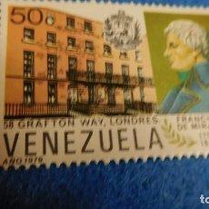 Sellos: SELLOS VENEZUELA 1979. NUEVO. FRANCISCO DE MIRANDA. Lote 223219275