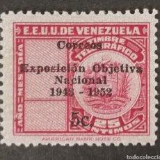 Sellos: VENEZUELA,N°318 TELÉGRAFOS 1952 MNH**(FOTOGRAFÍA REAL). Lote 225090430