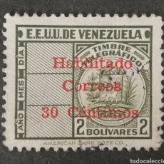 Sellos: VENEZUELA N°319 MNH**TELÉGRAFOS (FOTOGRAFÍA REAL). Lote 225091147