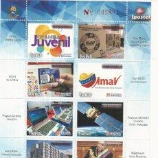 """Sellos: VENEZUELA: 2018; SERIE 20 AÑOS DE LA REVOLUCIÓN BOLIVARIANA """" HOJA DE 10 ESTAMPILLAS. Lote 289515298"""