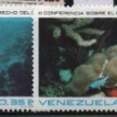 Sellos: VENEZUELA: 1974; 4 ESTAMPILLA, DERECHOS DEL MAR, TEMÁTICA PECES. Lote 229407075