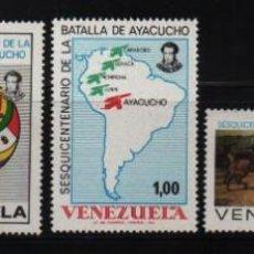 Sellos: VENEZUELA: 1974; BATALLA DE AYACUCHO, TEMÁTICA HECHOS HISTÓRICOS. Lote 229412155