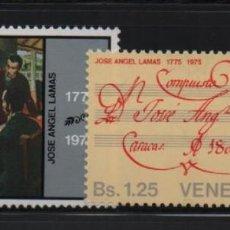 Sellos: VENEZUELA: 1976; 2 ESTAMPILLAS NACIMIENTO DE JOSÉ ÁNGEL LAMAS. Lote 230066830