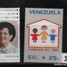 Sellos: VENEZUELA: 1976; 2 ESTAMPILLAS FESTIVAL DEL NIÑO 76. Lote 230219775