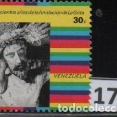 Sellos: VENEZUELA: 1977; CUATRICENTENARIO DE LA CIUDAD DE LA GRITA, TEMÁTICA RELIGIOSA. Lote 230226715