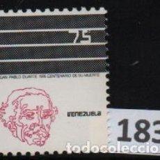 Sellos: VENEZUELA: 1977; 1 ESTAMPILLA DON JUAN PABLO DUARTE. Lote 230365935