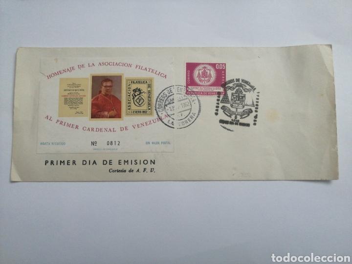 VENEZUELA SOBRE 1 DÍA, HOMENAJE AL PRIMER CARDENAL DE VENEZUELA, AÑO 1962 (Sellos - Extranjero - América - Venezuela)