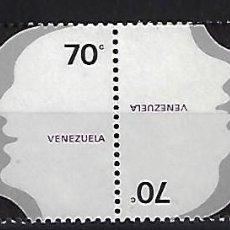 Sellos: VENEZUELA: 1978; SERIE PARA EL DIA DEL IDIOMA EN PAREJA TETE-BECHE, TIPO 2. Lote 231020045