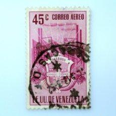 Sellos: SELLO POSTAL VENEZUELA 1951, 45 C, ESCUDO DE ARMAS CARABOBO, USADO. Lote 234022180
