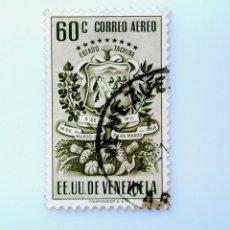 Sellos: SELLO POSTAL VENEZUELA 1951, 60 C, ESCUDO ESTADO DE TACHIRA, USADO. Lote 234047230