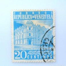 Sellos: SELLO POSTAL VENEZUELA 1958, 20 C, EDIFICIO OFICINA PINCIPAL DE CORREOS CARACAS, USADO. Lote 234051125