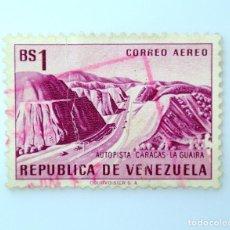 Sellos: SELLO POSTAL VENEZUELA 1956, 1 BS, AUTOPISTA CARACAS-LAGUAIRA, USADO. Lote 234052925