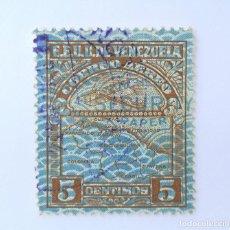 Sellos: SELLO POSTAL VENEZUELA 1932, 5 C, AVION SOBREVOLANDO MAPA DE VENEZUELA, USADO. Lote 234065095
