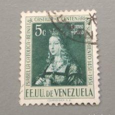 Sellos: SELLO VENEZUELA ISABEL LA CATÓLICA AÑO 1951. Lote 236130660