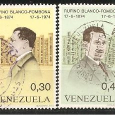 Sellos: VENEZUELA, YVERT 932/5, MATASELLADO. Lote 236965630