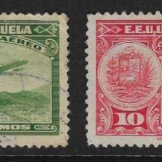 Sellos: VENEZUELA - AÉREOS CLÁSICOS. YVERT NSº 79/80 USADOS Y DEFECTUOSOS. Lote 243085370
